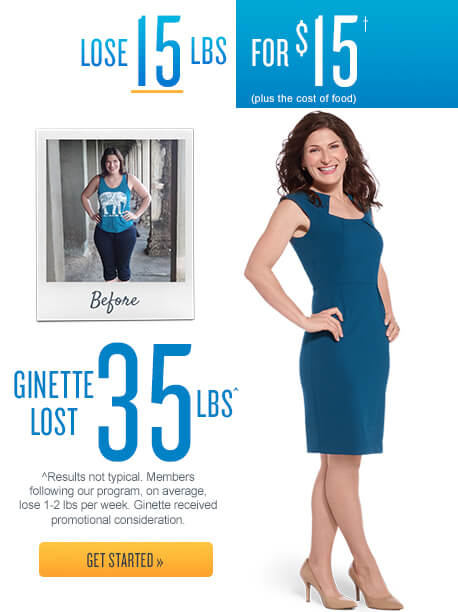 Jenny Craig - Lose 15lbs for $15.† (Plus the cost of food)